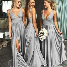Summer V Neck Sexy Bridesmaid Dress Long Maid of Honor Women Wedding Evening Gown V Neck Evening Dress, Wedding Dresses, Bridesmaid Dresses Sexy, Evening Dress V-neck, Bridesmaid Dresses Wedding Dresses 2018 Wedding Evening Gown, Sexy Evening Dress, Evening Dresses, Wedding Gowns, Prom Gowns, Burgundy Bridesmaid Dresses Long, Wedding Bridesmaid Dresses, Pinterest Bridesmaid Dresses, Green Bridesmaids