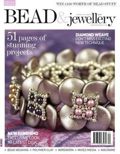 Bead & jewellery spring 2016 by Evlyn - issuu Beading Techniques, Beading Tutorials, Beading Projects, Bead Jewellery, Beaded Jewelry, Handmade Jewelry, Beaded Bracelets, Jewelry Patterns, Beading Patterns