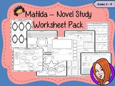 Matilda Worksheet PackThis download includes a worksheet pack to be used with the book, Matilda for a novel study or similar. There are lots of activities included separated into three sections, pre-read activities, during reading and after reading activities.