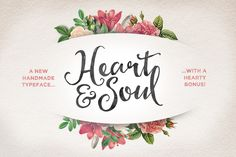 Check out Heart & Soul Typeface by Nicky Laatz on Creative Market