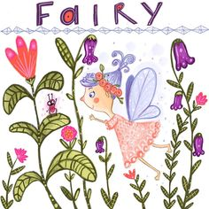 A fairy meets a bug. Cute Fairy, Children's Book Illustration, Mythical Creatures, Insta Art, Illustrator, Prints, Magical Creatures, Mythological Creatures, Illustrators