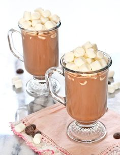 This easy hot chocolate recipe will have you sipping on rich and comforting cocoa in less than 10 minutes. Lactose-free instructions included! Get the recipe on RachelCooks.com! #spon @MilkMeansMore