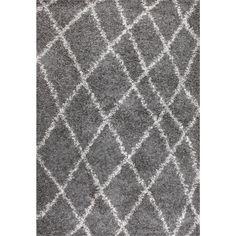 Alvera Easy Shag Grey 10 ft. 6 in. x 14 ft. Area Rug