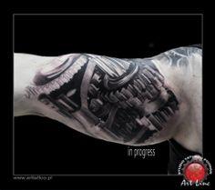 Biomechanical tattoo , Artist@Dominik Szymkowiak, Art Line Tattoo Poznan