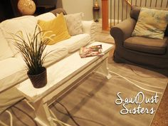 DIY Narrow Coffee Table or Country Bench Tutorial