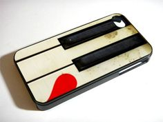 LEFT LOVE PIANO for iPhone 4/4s/5/5s/5c, Samsung Galaxy s3/s4 case