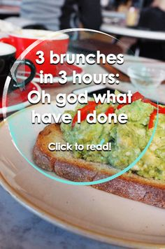 Ask my friends about my diary management skills and they will laugh so hard that gin is inelegantly snorted. Brunches, Avocado Toast, Guacamole, London, God, Breakfast, Ethnic Recipes, Dios, Morning Coffee