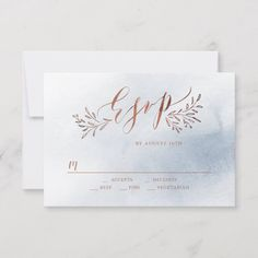 Shop Dusty blue calligraphy rustic floral wedding RSVP created by AvaPaperie. Monogram Wedding Invitations, Burgundy Wedding Invitations, Beautiful Wedding Invitations, Wedding Rsvp, Wedding Invitation Cards, Floral Wedding, Wedding Cards, Invite, Rustic Wedding