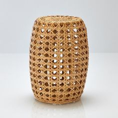 Features of occasional table:  Occasional table in hand-woven rattan. Solid rattan cane frame. Cylinder shape. Nitrocellulose finish. Plastic pads. Size of occasional table: Overall size: Length: 390 mm Height: 533 mm Width: 390 mm   Size and weight of parcel: 1 parcel. Length 450 x height 580 x depth 450 mm. 4.72 kg  Delivered to your door. Your occasional table is supplied for self-assembly. It will be delivered to your door, and even taken upstairs! Note: Please check that all access…