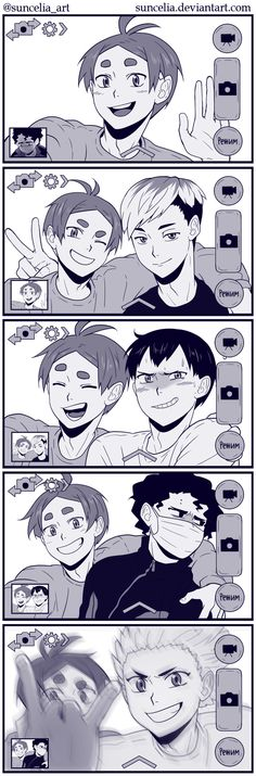 Haikyuu!! Selfie by Suncelia on DeviantArt