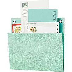 "Martha Stewart Home Office™ with Avery™ Small Shagreen Pockets, 8"" x 7-1/4"""