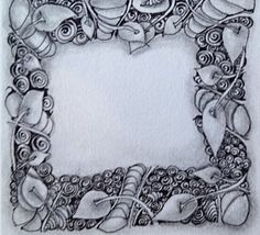 "A Zentangle we did in ""Class together at Zentangle #9...."