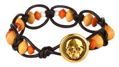 Make a fun Halloween bracelet and earring set with genuine wood beads, TierraCast and more. Watch the attached video tutorials to make yours today at AntelopeBeads.com