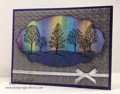 Stamping to Share: Kay's Version of the Northern Lights Technique with a How To Video