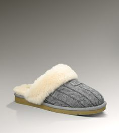 Ugg Cozy Knit Slippers in Heather Gray $110.... OH MY I want these!