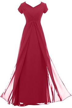 Sunvary Woman Vintage Long Chiffon Mother of the Bride Dresses with Short Sleeves Prom Evening Gowns Bridesmaid Dress US Size 2- Burgundy Sunvary http://www.amazon.com/dp/B00MA4OODS/ref=cm_sw_r_pi_dp_WP3-tb01CZKRR