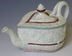 18th-century American Women: A Short Tea Story- heart shaped teapot