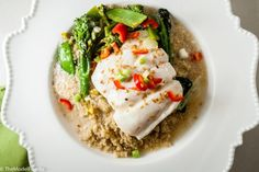 Poached Cod in Coconut Milk on TheModelFoodie.com