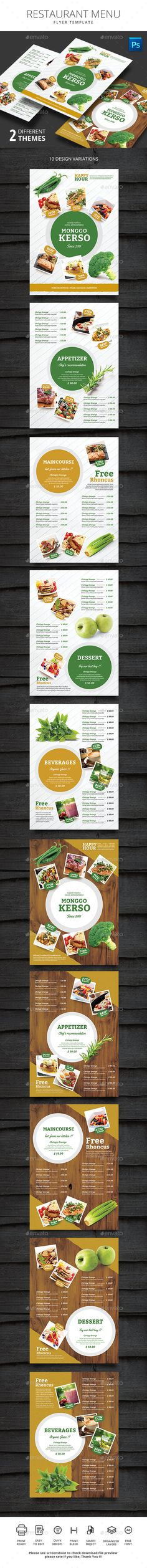 Thai Restaurant Trifold Menu  Thai Restaurant Menu Templates And