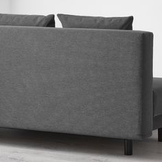 ASARUM Knisa dark grey, 3-seat sofa-bed - IKEA 3 Seat Sofa Bed, Deep Seat Cushions, Plastic Hinges, Ikea Bed, Polypropylene Plastic, Polyurethane Foam, Tub Chair