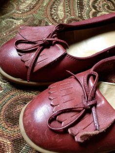 Vintage Shoe // Women's // Leather Flat // Size by ShiznitVintage, $45.00