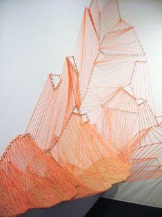 Aili Schmeltz  Goucher Glacier - 2008  nails, string and wood