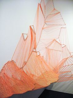 Aili Schmeltz  Goucher Glacier - 2008  nails, string and wood