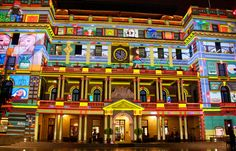 My favourite building, Customs House, at Vivid Sydney