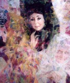 """Georgy Shishkin/ Le mystere de l''ame, 1996. The mystery of her soul (Из серии """"Русские сны"""") Painting, Art, Art Background, Painting Art, Kunst, Paintings, Performing Arts, Painted Canvas, Drawings"""
