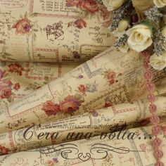Tissu Style Shabby Chic, Gift Wrapping, Antiques, Rose, Nature, Fabric, Beautiful, Furniture, Tejidos
