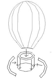my craft and garden tales template for a 3d paper hot air balloon