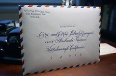 Calligraphy + Airmail