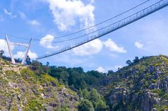Would you dare to cross this giant suspension bridge in Portugal? - Lonely Planet 09-10-2020 | The 516 Arouca bridge has an open metal grid floor that allows those crossing it to see the Rio Paiva river beneath.