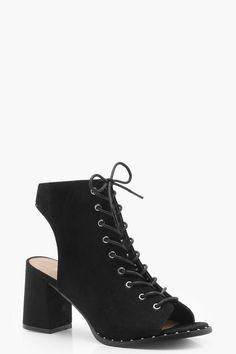 ddc6dd3cc72 Caroline Lace Up Studded Trim Shoe Boots