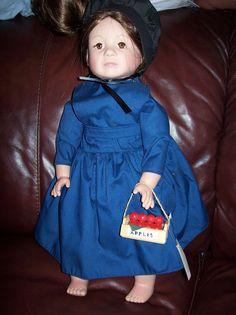 "RARE SIGNED ""HANNAH"" PAT SECRIST/ZOOK  20 INCH VINYL AMISH DOLL #205 of 500 #ZOOKPATSECRIST #Dolls"