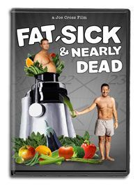 Fat Sick and Nearly Dead, a great documentary advocating a whole foods, plant based diet with a focus on juicing for healing/cleansing.
