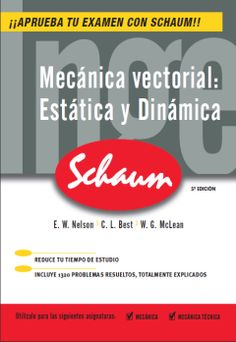 """Mecánica vectorial : estática y dinámica"" E. W. Nelson, Charles L. Best, W. G. McLean. #novetatsfiq2016"