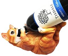 Wine Racks - FELINE BROWN CAT CUTE KITCHEN OIL WINE BOTTLE HOLDER FIGURINE STATUE >>> You can get more details by clicking on the image.