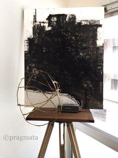 """""""Public Announcement"""" Painting, ( titled Uphill ) Matsuoka Gaku Bronze, Akino Chihiro 「公示」 絵画、( 坂 )、松岡学 ブロンズ、秋野ちひろ #pragmata"""