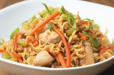 One-Pot Chicken Chow Mein
