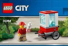 View LEGO instructions for Popcorn Cart set number 30364 to help you build these LEGO sets Lego Duplo, Lego Ninjago, Lego Minecraft, Lego Creator, Lego Disney, Disney Frozen, Jurassic Park Jeep, Popcorn Cart, Lego Building Sets