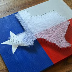 Texas Flag String Art. Could totally see myself making a rendition of this for my mom
