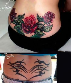 lower back tattoos for women #Lowerbacktattoos Back Tattoo Women Spine, Cover Up Tattoos For Women, Back Tattoos Spine, Girl Back Tattoos, Girls With Sleeve Tattoos, Lower Back Tattoos, Forearm Cover Up Tattoos, Wrist Tattoo Cover Up, Trendy Tattoos