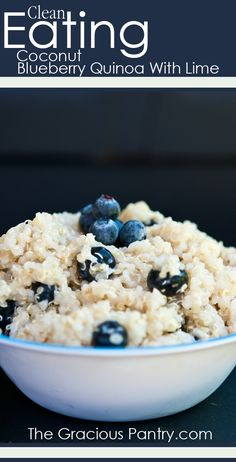 Clean Eating Coconut Blueberry Quinoa With Lime