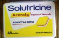 solutricine vitamine C oux d'un côté acidulé de l'autre gout orange
