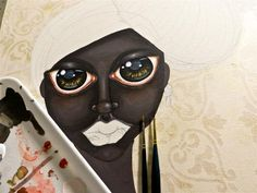 WIP day 3 by vfujiwara.deviantart.com    When I decided I wanted to paint a black woman, I knew it would be a challenge and I began to study their skin more than 1 month ago.  What I did not expect is that it really is hard!
