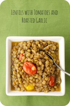 Lentils with tomatoes and roasted garlic - for Dr. Oz's 2 Week Rapid Weight Loss Diet