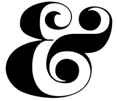 FREE cut file: Ampersand by melstampz #silhouette #cameo