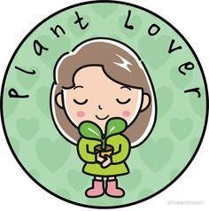 'Plant Lover Cute Pink Simple Round Design' Sticker by oliveandmoon - Pflanzen Kawaii, Plants Quotes, Pop Art Wallpaper, Plants Are Friends, Bedroom Plants, Cactus Y Suculentas, Plant Art, Round Design, Plant Illustration
