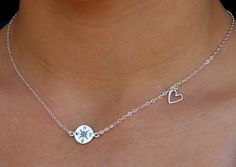 Compass and Heart Necklace  Sterling Silver Compass by lisaloren, $36.00